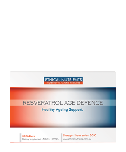 Ethical Nutrients Resveratrol Age Defence 30 Tablets