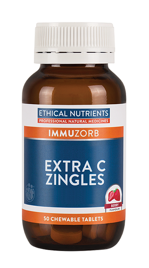 Ethical Nutrients IMMUZORB Extra C Zingles (Orange) 50 Tabs|HealthMasters