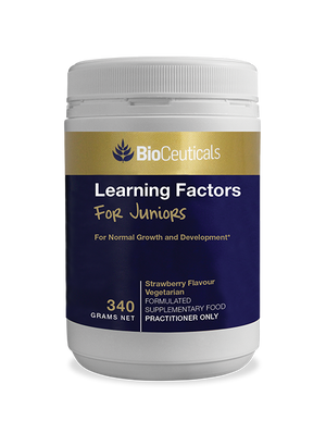 BioCeuticals Learning Factors For Juniors Strawberry 340g 10% off RRP | HealthMasters