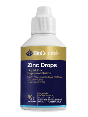 BioCeuticals Zinc Drops 50mL liquid 10% off RRP | HealthMasters