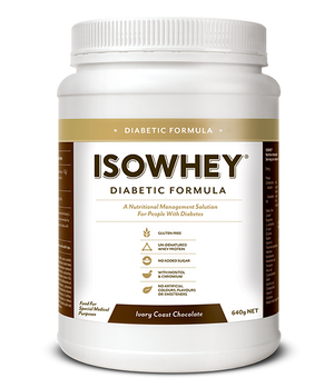BioCeuticals IsoWhey Diabetic Formula Ivory Coast Chocolate 640g 10% off RRP | HealthMasters