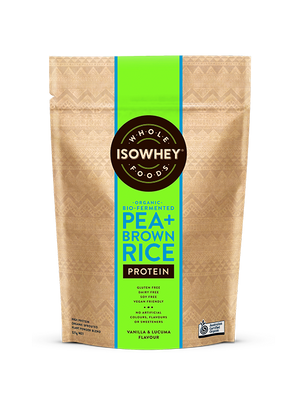 BioCeuticals IsoWhey Wholefoods Organic Bio-fermented Pea + Brown Rice Protein Powder 525g 10% off RRP | HealthMasters