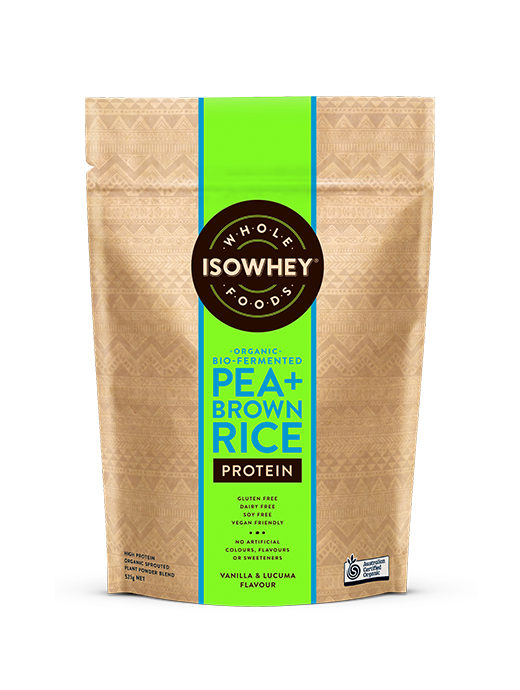 BioCeuticals IsoWhey Wholefoods Organic Bio-fermented Pea + Brown Rice Protein Powder 525g