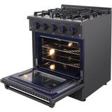 HRG3080-BS 30 Inch Professional Gas Range in Black Stainless Steel