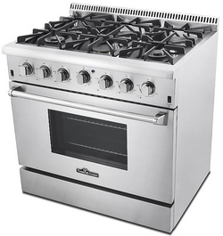 thor kitchen  36 inch stove