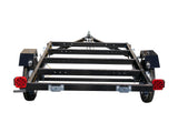 rear view  4 x8 freedom folding utility trailer  Muddy river wholesale