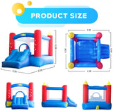 YARD Indoor Outdoor Bounce House with Slide Blower for Kids 6207 Bouncy Castles w/ Heavy Duty Blower