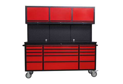 Merveilleux FREEDOM ROUGE 6 Foot Tool Cabinet With Pegboard And Upper Cabinets   RED U0026  BLACK