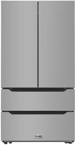 Thor Kitchen HRF3602  36 Inch Stainless Steel Counter Depth French Door Refrigerator