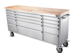 freedom 72 inch 15 Drawers Tool Chest, stainless steel