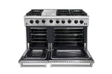 "THOR KITCHEN 48"" STAINLESS STEEL GAS RANGE"