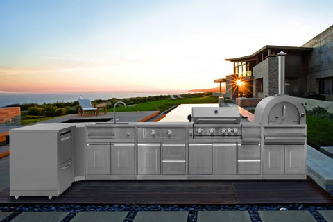 THOR pro-style 8-piece Modular Outdoor Kitchen Suite