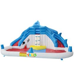 Kids Inflatable Shark Water Slide & Climber