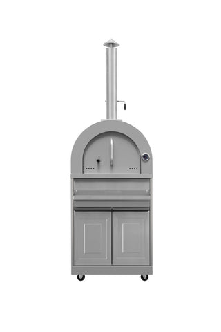 WOOD FIRE OUTDOOR PIZZA OVEN - STAINLESS STEEL