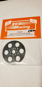 RW Racing Spur Gear 142 tooth 64 pitch for RC Drag Racing