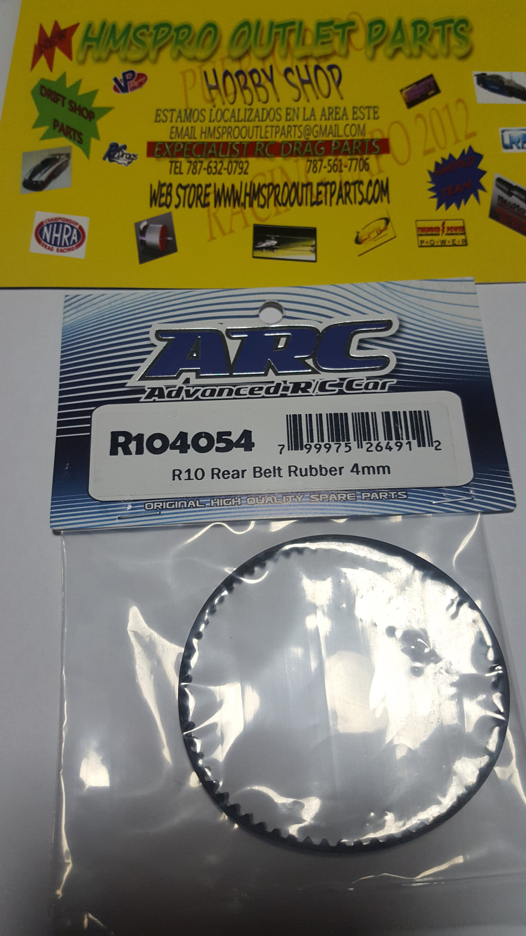 ARC  Rear Belt Rubber 4mm R104054