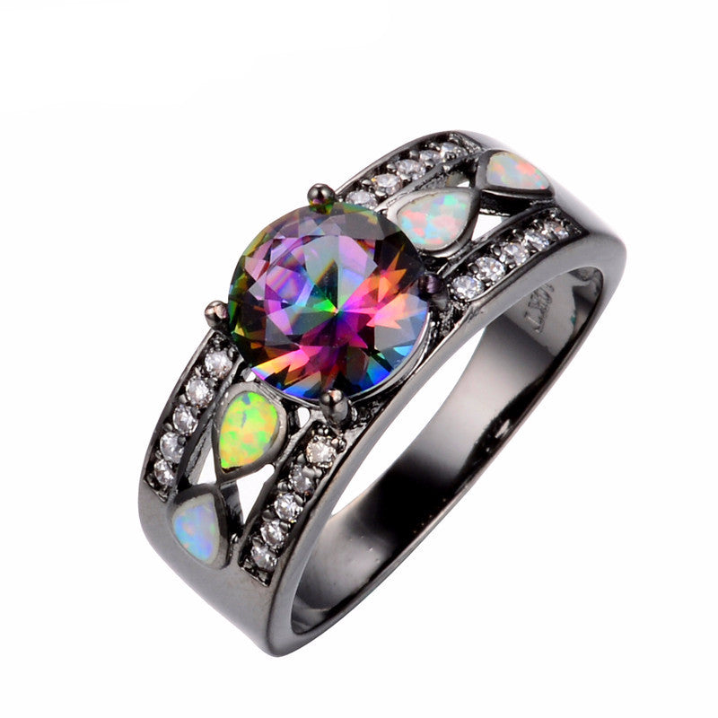 rings ring engagement rainbow cz silver topaz kriskate co sterling