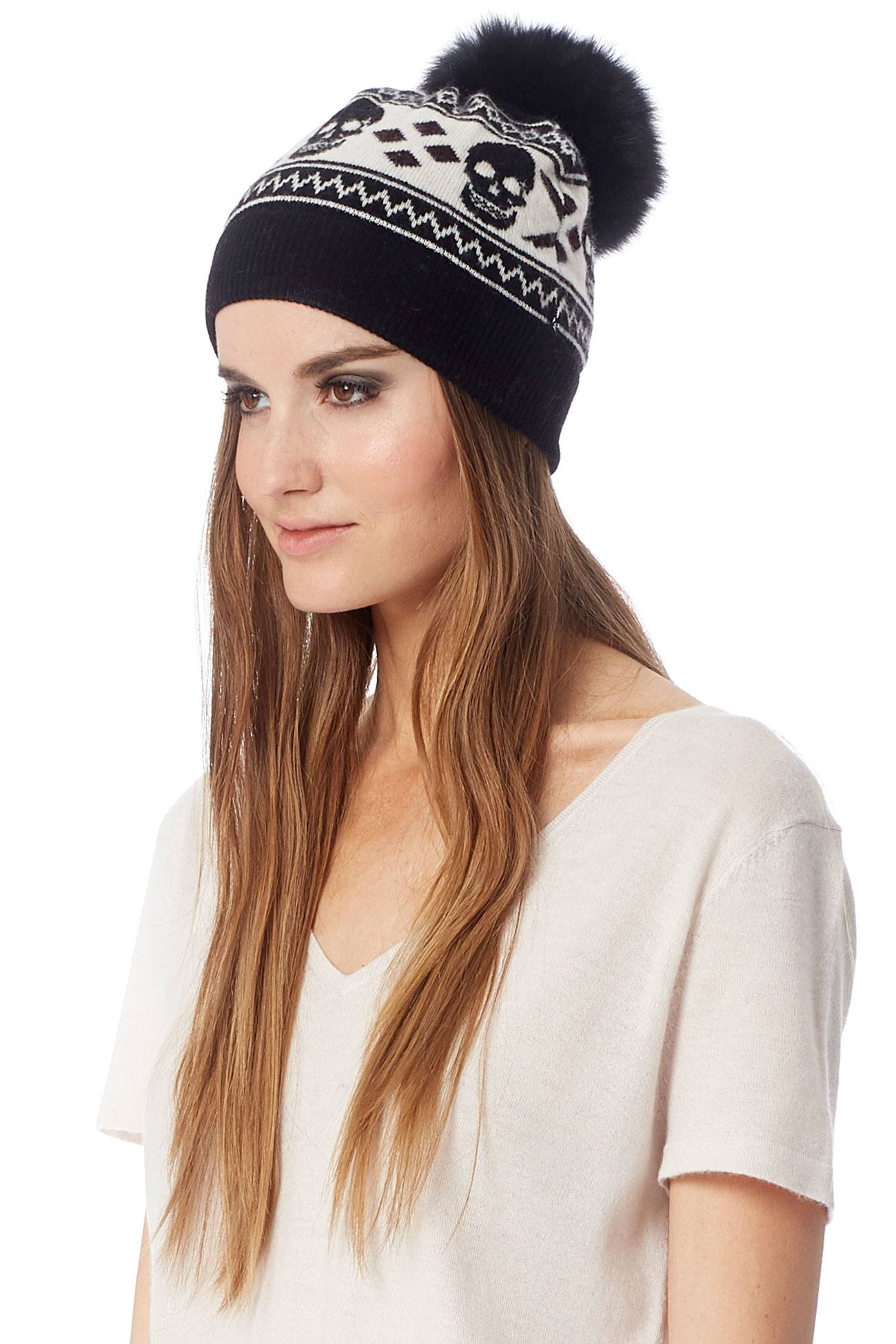 10fcd80e31a Women s Thana Geometric Diamond   Skull Beanie
