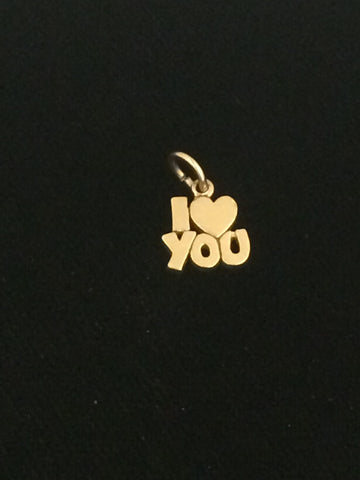 "James Avery 14k Gold ""I Love You"" Charm"