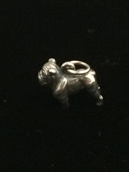 James Avery Sterling Silver Bulldog Charm (Retired)