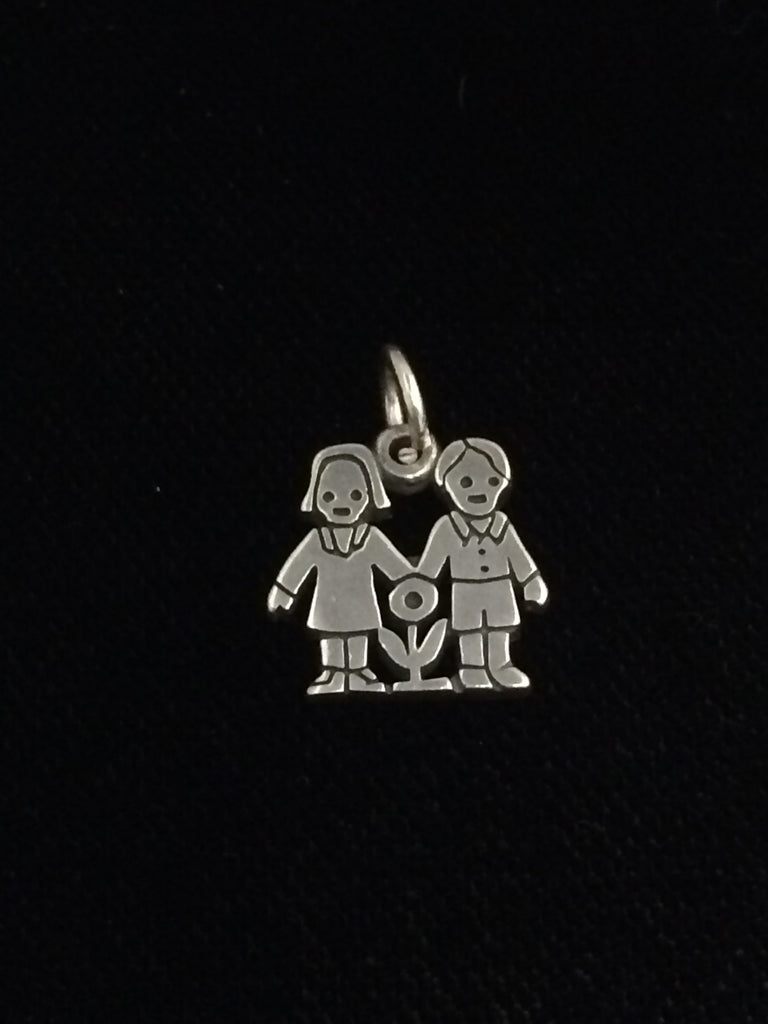 "James Avery Sterling Silver ""Love Is"" Charm (Boy Girl)"