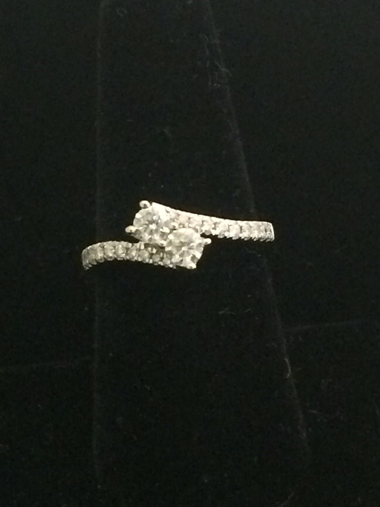 Ever Us 14k White Gold Two-Stone Diamond Ring