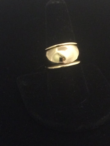 James Avery 14k Gold Domed Signet Ring (Retired)
