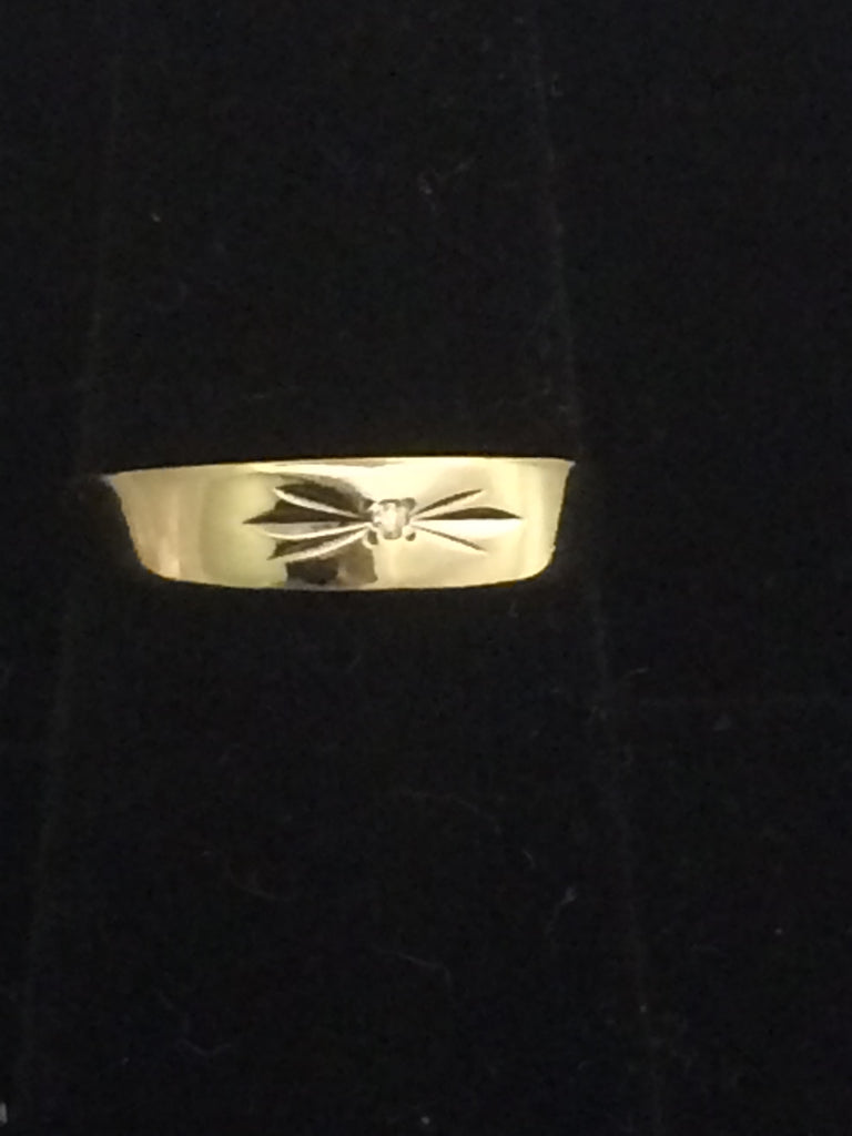 14k Gold Ring with accent diamond