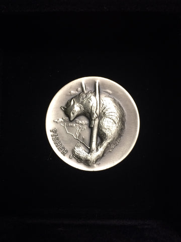 "Fisher ""America's Natural Legacy"" Series Endangered Wildlife High Relief Sterling Silver Medallion"
