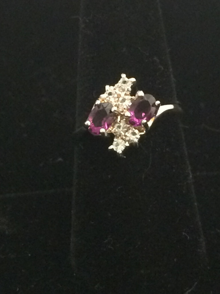 Sterling Silver & Amethyst Cocktail Ring