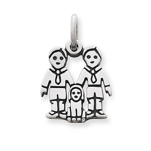 James Avery Sterling Silver Two Boys Charm