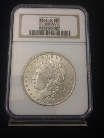 1884-O U.S. $1 Morgan Dollar NGC MS65