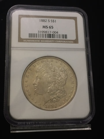 1882-S U.S. $1 Morgan Dollar NGC MS65