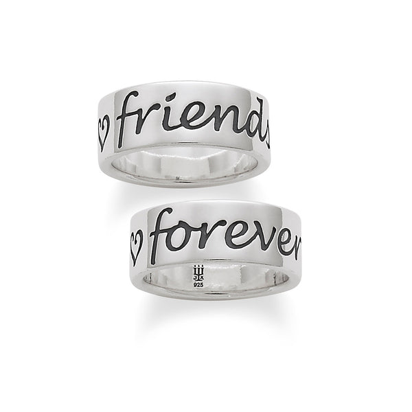 "James Avery Sterling Silver ""Friends Forever"" Script Ring"