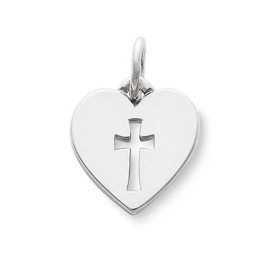 James Avery Sterling Silver Crosslet Heart Charm