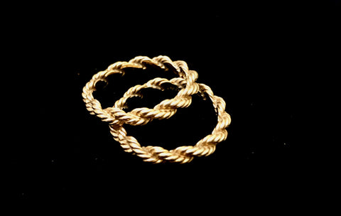 James Avery 14k Gold Rope Rings (Retired)