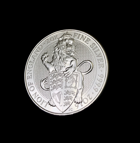 2016 Great Britain 2ozt Silver Queen's Beast