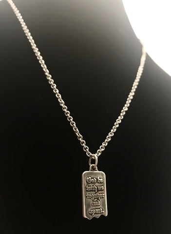 James Avery Sterling Silver MIZPAH Pendant and Necklace