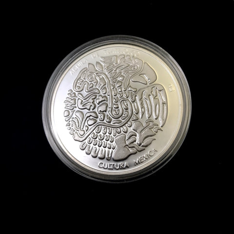 1ozt Mexican Silver Medal: Coyolxauhqui/Aguila Tlatelolco