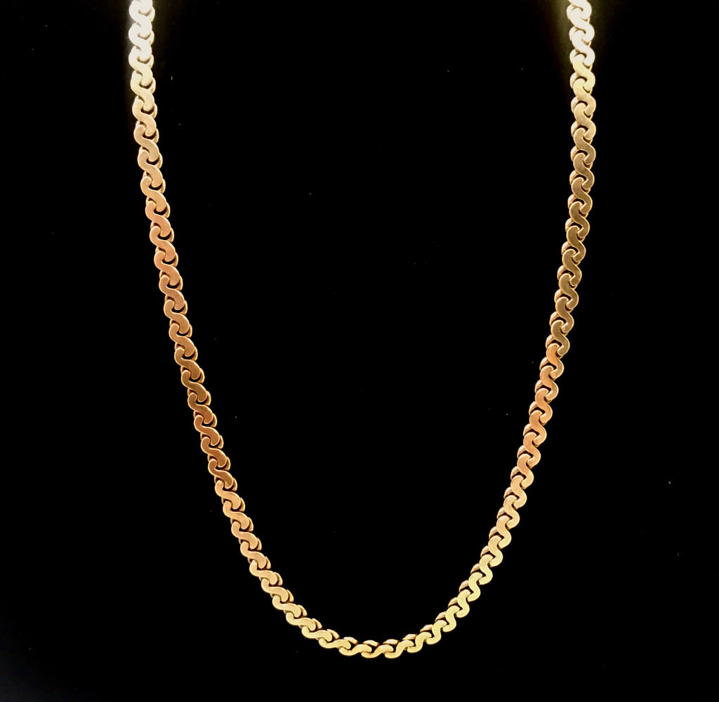 "10k Gold 20"" Flat S Link Necklace"