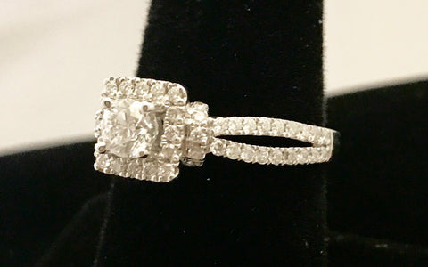 Vera Wang 14k White Gold Diamond Ring