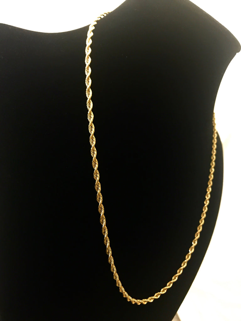 "14k Gold 20"" Rope Necklace"