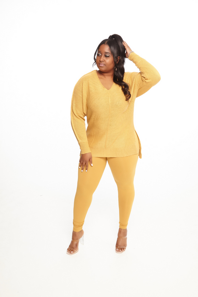 Mustard Sweater Set