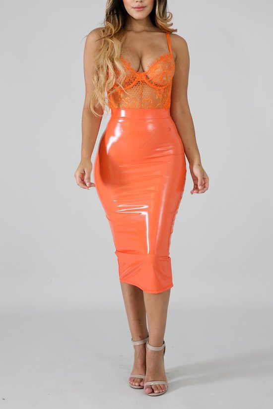 Orange Sherbert Skirt