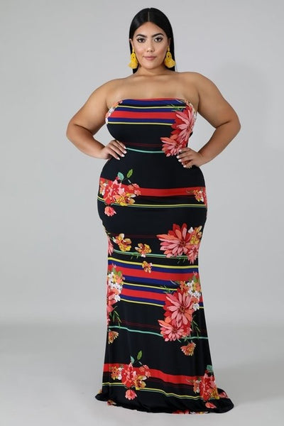 Flower Bomb Curvy Dress
