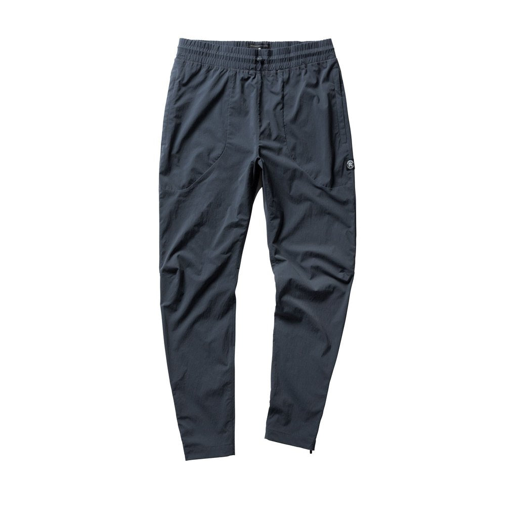 Track Pant in Steel Stretch Nylon (Sea To Sky)