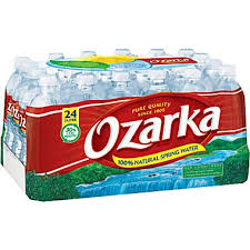 Ozarka $1/2 100% Natural Spring Water 8oz 12 packs or 700ml 6 packs (3/12) RMN 1/12