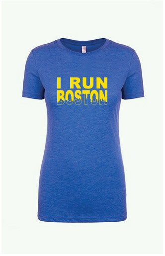 Women's I RUN Boston Tee