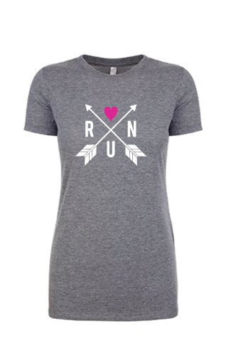 Women's Run Heart Tees