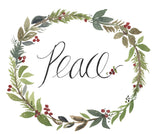 Peace Wreath -A2 Holiday/ Christmas Greeting Card